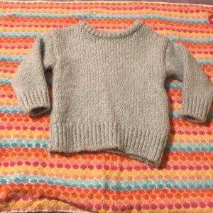 Soft blue wool sweater